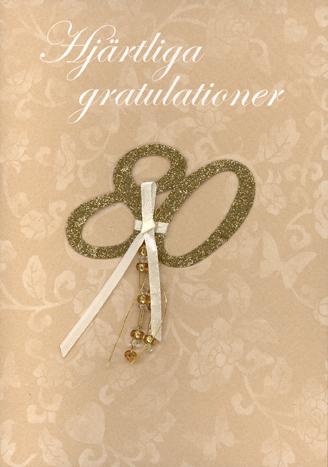 hjärtliga gratulationer på bröllopsdagen Applikation med 80 i glitter
