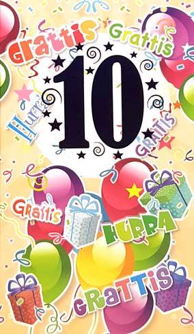 grattis 10 år Årskort 10år grattis 10 år