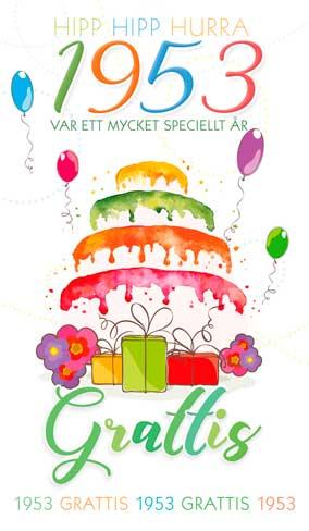 grattis 65 år Stora Årtalskort 1953 (65 år) grattis 65 år