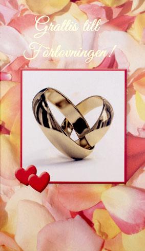 grattis på förlovningen Två Förlovningsringar
