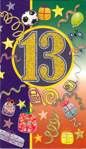 13 års kort Årskort 13 år 13 års kort