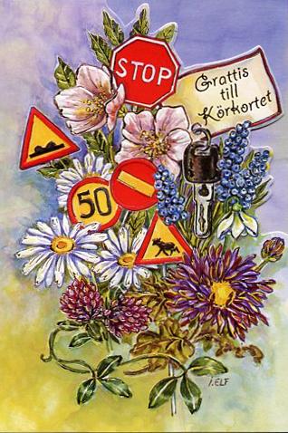 grattis till körkortet vykort Grattis till körkortet grattis till körkortet vykort