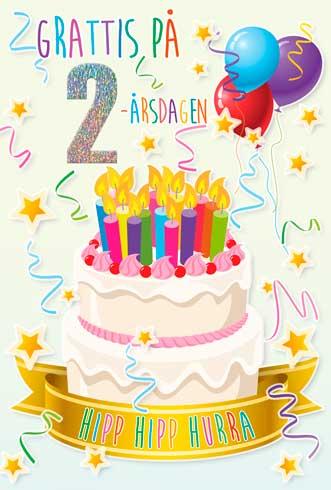 grattis 2 år Tårta med Ljus 2år grattis 2 år