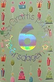 grattis på 6 årsdagen Mini Kort Grattis på 6 årsdagen grattis på 6 årsdagen