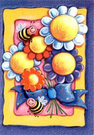 Blommor & humla