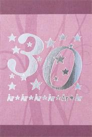 '' 30 år & stjärnor '' folierade