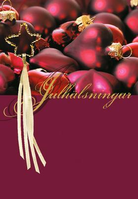 Applikationskort '' Julhälsning  ''