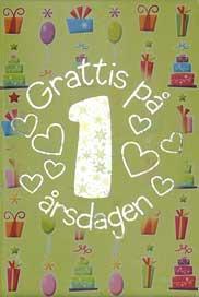 Mini Kort Grattis på 1 årsdagen