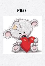 Theodore nallen med hjärta