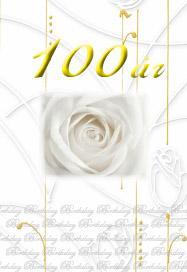 100år Guldfolierad text