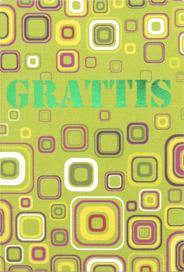 Mönster i grönt med folierad text