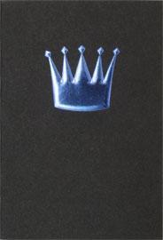 Krona präglad & blå folierad