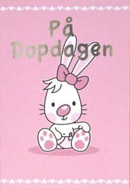 Tecknad tjej kanin '' På Dopdagen ''