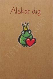 Miljökort Princessgroda med hjärta