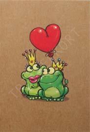 Miljö kort 2 grodor hjärta