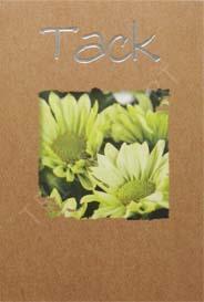Miljö kort Gula Blommor Tack