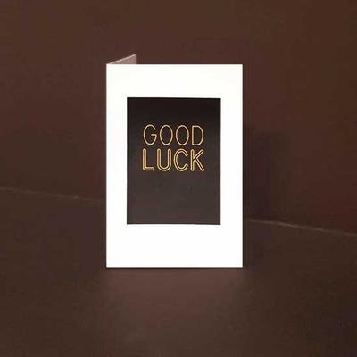 Mini kort exklusiva Good Luck, Guldfolie