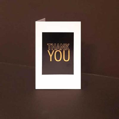 Mini kort exklusiva Thank You, Guldfolie