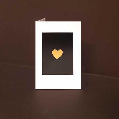 Mini kort exklusiva Guldhjärta, Guldfolie