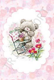 Nalle Blommor o stol