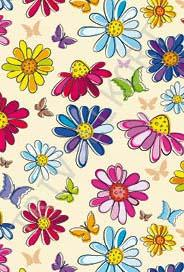 Färgglada blommor tecknade