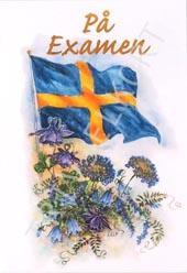 Flagga, på examensdagen