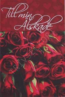 Minikort Röda Rosor Till min Älskade