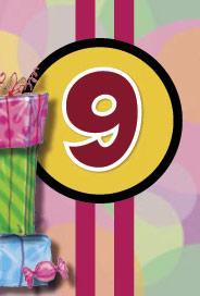 Årtalskort 9 år