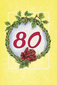 Årtalskort 80 år