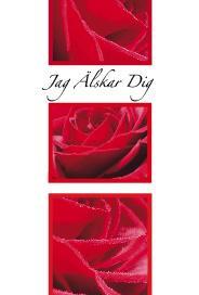 Röda rosor på ljus bakgrund