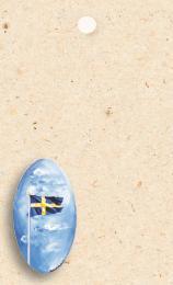 Ljust kort med svenska flaggan