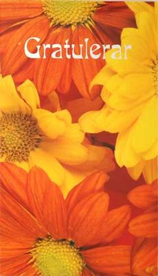 Orange Blommor Gratulerar