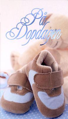 Baby skor & nalle '' På dopdagen '' Kille