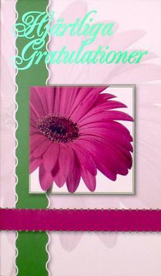 Lila Gerbera '' Hjärtliga Gratulationer ''