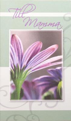 Lila blomma , folierad text '' Till Mamma''