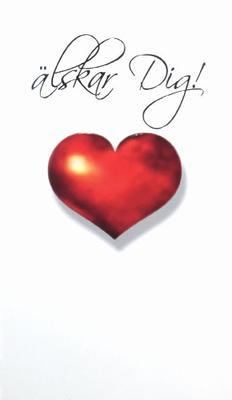 Rött hjärta, vit bakgrund