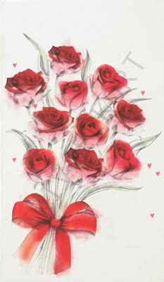 Röda Rosor Tecknade