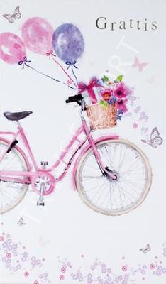 Rosa Cykel Grattis