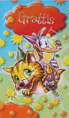 Katt med vänner, grattis