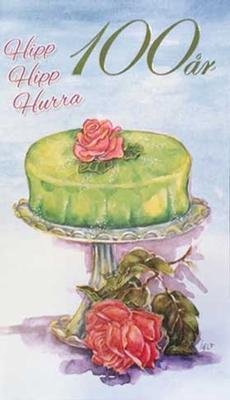 Årskort 100 år Princesstårta