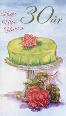 Årskort 30 år Princesstårta