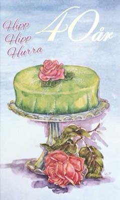Årskort 40 år Princesstårta