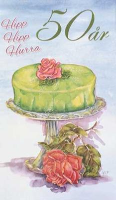 Årskort 50 år Princesstårta