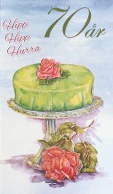 Årskort 70 år Princesstårta
