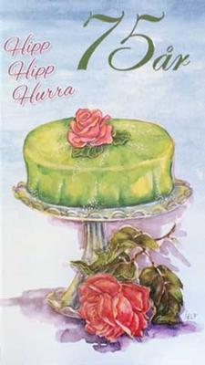 Årskort 75 år Princesstårta