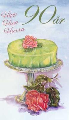 Årskort 90 år Princesstårta