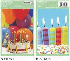 Sida 1: Stor tårta . Sida 2:Liten tårta