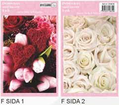 Sida 1: Rod bukett . Sida 2:Vita rosor