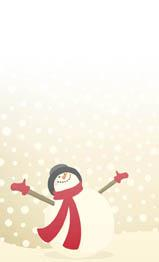 Glad snögubbe