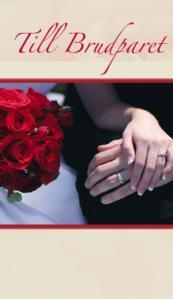 Brudpar med röda rosor